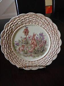 Easter/Spring Bunny Plate with stand