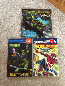 TMNT and Spider-Man Books