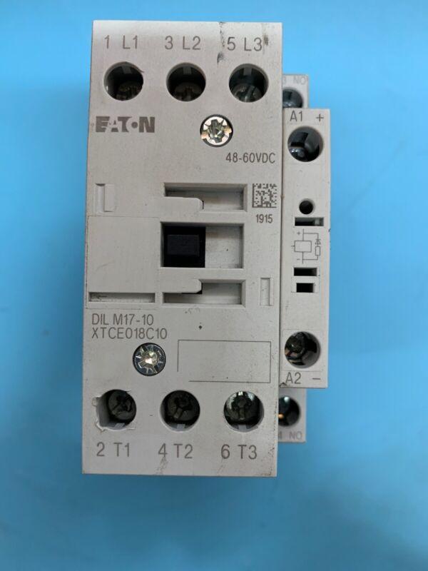 EATON DIL M17-10 XTCE018C10 KLOCKNER MOELLER 110/120V 50/60HZ CONTACTOR RECONDIT