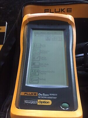 Fluke Networks One Touch Series Ii 10100 Pro Network Assistant W In Option
