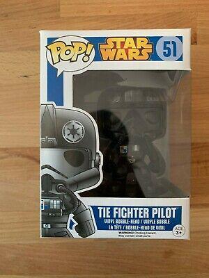 Funko Pop Star Wars 51 Tie Fighter Pilot Blue Box Rare Vaulted Vinyl w Protector