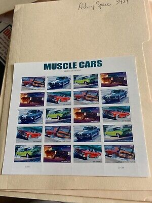 US #4743-7 Muscle Cars Forever Sheet of 20 VF NH MNH 2013 Date