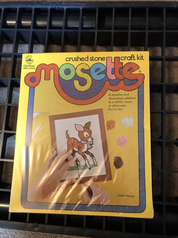 New - Vintage Craft Master World of Crafts Crushed Stone Mosette Craft Kit