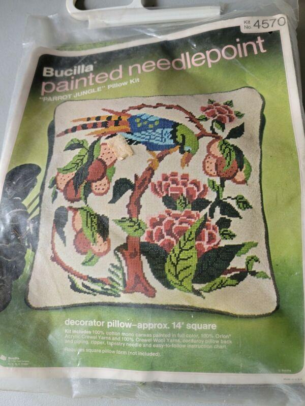 Bucilla Painted Needlepoint Kit 4570 Parrot Jungle
