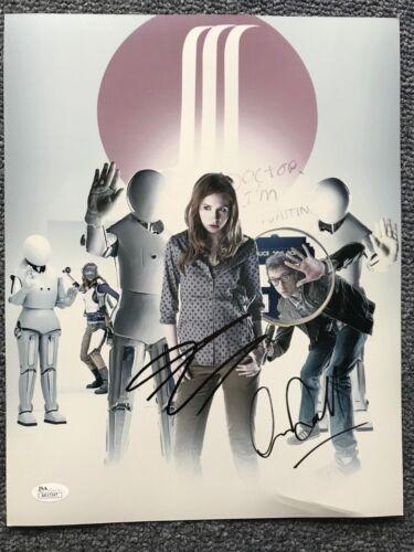 Doctor Who Karen Gillan Arthur Darvill Autographed Signed 11x14 Photo JSA COA