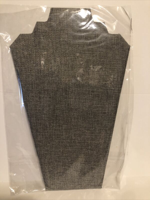 7TH VELVET (1) 12.5inches Necklace Display Stand Easel Jewelry (1) Gray Linen