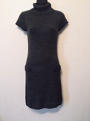 Heritage 1981 Gray Sweater Dress Wool Blend Womens Size S