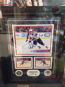 Framed Autographed Ovechkin Picture