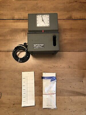 Lathem Model 2101 Heavy Duty Time Clock Recorder With Keys Cards - Works