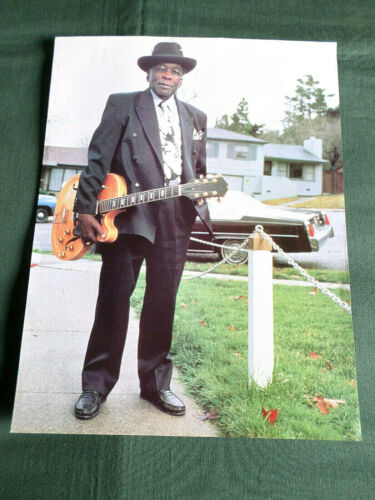 JOHN LEE HOOKER   - BLUES MUSIC  - 1 PAGE  PICTURE- CLIPPING/CUTTING