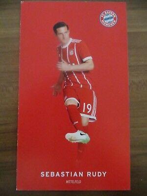 Autogrammkarte AK *SEBASTIAN RUDY* FC Bayern München 17/18 2017/2018 Deutschland