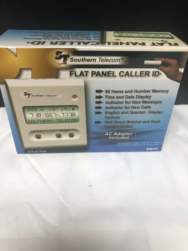 Southern Telecom Flat Panel Caller ID SID-01 New In Original Box Mint Condition