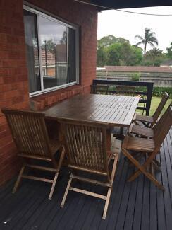 8 piece Teak outdoor furniture
