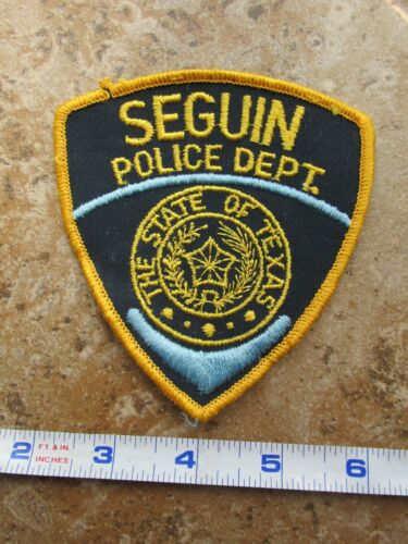 OBSOLETE Vintage State of Texas City of Seguin Police Department Shoulder Patch