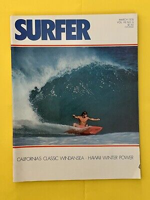 SURFER MAGAZINE Vintage March 1978 ~ California Classic Wind & Sea ~ Hawaii.