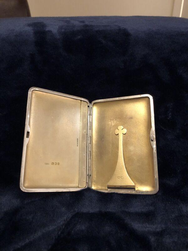 Asprey Silver Slide Lock Card Case. C1919. A&Co Ltd of Bond Street