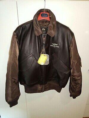 Breitling Jacket x Alpha Industries bomber chaqueta de hombre talla L