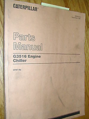 Cat Caterpillar G3516 Engine Chiller Parts Manual Book Catalog Natural Gas 8pw