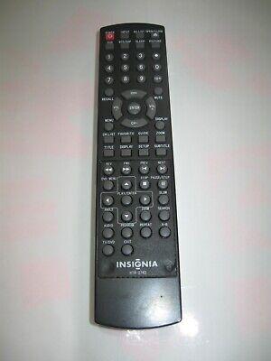 INSIGNIA HTR-274D TV/DVD COMBO Remote / NSLTDVD19, NSLTDVD1909, NSLTDVD1909CA. Insignia Tv-dvd-combo