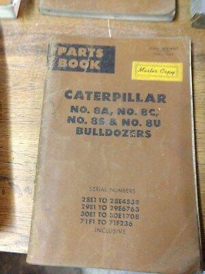 Cat Caterpillar Parts Book Nos 8a8c8s 8u Bulldozers