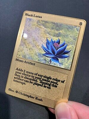 Black Lotus MTG Magic the Gathering Card Alpha Beta Card Gold Grail NM/Mint