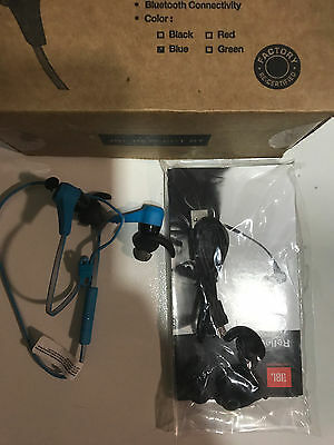 GENUINE JBL REFLECT  BLUETOOTH IN EAR earphones  MINT  BLUE  priced 2 sell  for sale  Shipping to South Africa