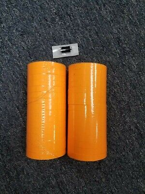 Fluorescent Orange Labels For Monarch 1110 Pricing Gun 32 Rolls- 2 Sleeves