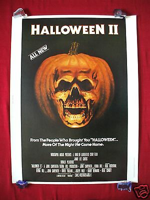 HALLOWEEN II 2 * 1981 ORIGINAL MOVIE POSTER 30X40 RLLD PUMPKIN SKULL MASK HORROR