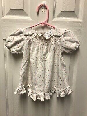 Ralph Lauren Baby Girl White Cotton Dress  Size 9 Months #94