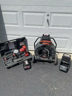 Ridgid Seesnake Max Self Leveling Sewer Camera Reel W Monitor And Scout Locator