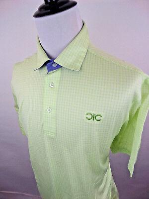 OXFORD GOLF Men's Golf Polo Short Sleeve Shirt Striped Green size XL Cotton Mens Oxford Golf Shirt