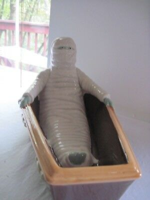 Halloween Fall Autumn MUMMY IN COFFIN  Candy Dish New (Halloween Mummy Coffin)