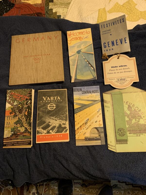 1936 Berlin Olympic Games - German Propaganda And European Travel Great Cond