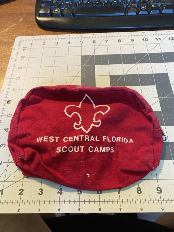 West Central Florida Council Scout Camps Small Bag BSA Boy Scouts Red FA-535K