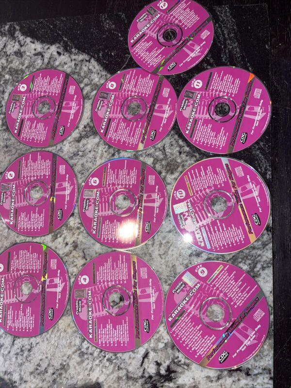 Priddis Pro Sound Karaoke cdg 10 disc set. Disk cd