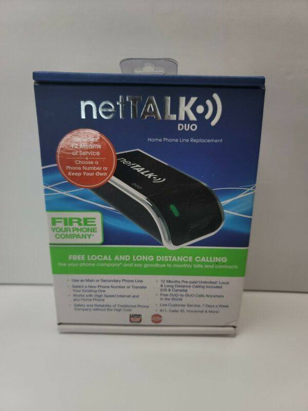 Nettalk Duo VoIP Home Phone (Ethernet) Brand New 12 Months W7