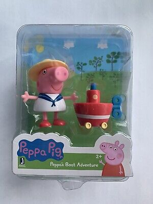Peppa Pig Collect and Play Figure Set - PEPPA'S BOAT ADVENTURE - NEW
