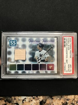 2004 Topps Pristine Derek Jeter #FF-DJ Fantasy Favorites- Bat GEM MT PSA 10