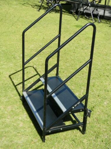 "StageRight Tilt & Tote Stage Steps for 16"" & 24"" Stages Mobil Platform Stairs"