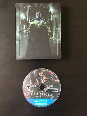 Injustice 2: Ultimate Edition PS4 Game w/ Limited SteelBook Case