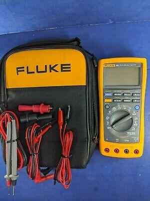 Fluke 189 Trms Multimeter Excellent Soft Case Screen Protector More