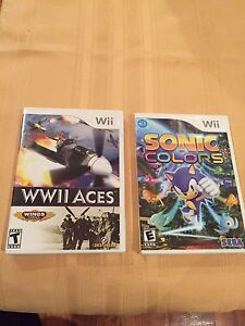Wii Sonic Colors & WW11 Aces