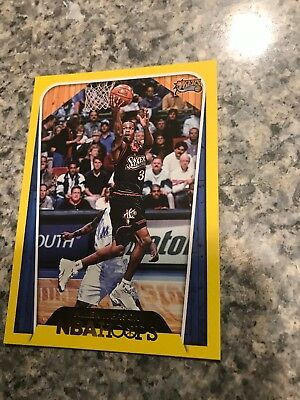 Yellow Border (2018-19 Nba Hoops Yellow Border Legends. Allen Iverson 76ers )