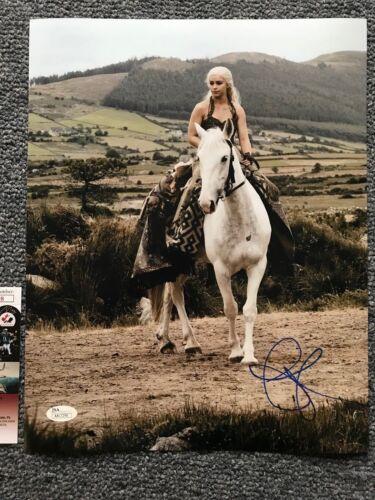Game of Thrones Emilia Clarke Autographed Signed 11x14 Photo JSA COA #6