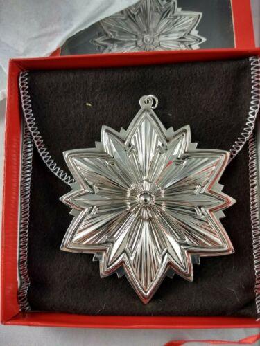 1993 Gorham Sterling Silver Snowflake Ornament New, Unused, w/box & bag