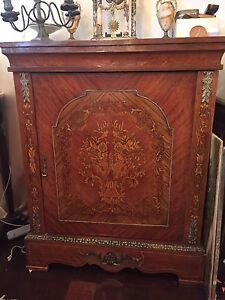 Antique french inlaid sideboard credenza