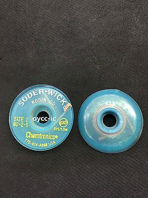 1 Roll 80-2-5 W 1.5mm Chemtronics Desoldering Wick Soder-wick Chemtronics Usa