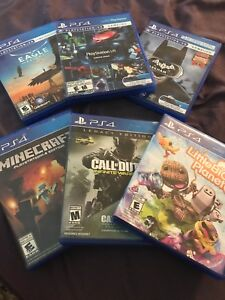 PS4  and PS4 VR Games