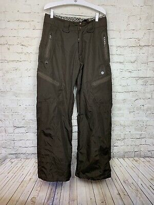 DC Snowboarding Mens Brown Cargo Snow Pant Ekotek 15,000 Series Size Small S