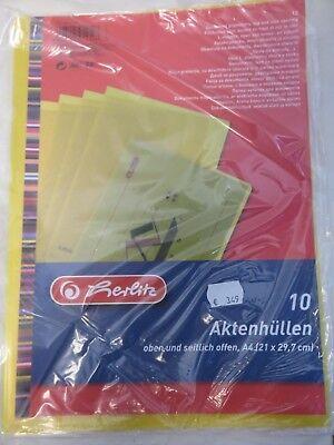Herlitz * Aktenhüllen - Farbe Gelb DIN A 4 - 5914122 * Prospekthüllen - Hüllen